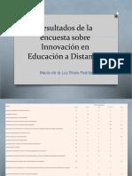 Resultados de La Encuesta Sobre Innovación en Educación