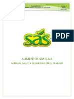 Manual Salud y Seguridad en El Trabajo de Alimentos Sas s.a.s. (1)