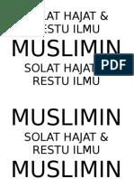 Signage Solat Hajat