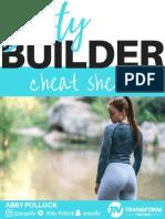 TFN Booty Builder Cheat Sheet