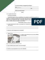 Prova Escrita de História e Geografia de Portugal - Maria Mota