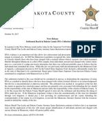 Dakota County DNA settlement comment