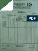 Angle Bar 130x130x9mm Mill Certificate