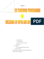 Structured Teaching Programme