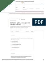 Exercícios Sobre a Evolução Dos Modelos Atômicos - Brasil Escola