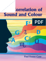 Correlation of Sound and Colour - Paul Foster Case