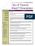 Tucson Ward 5 Councilmember Richard Fimbres October 2017 Newsletter