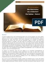 Brennpunkte Ausgabe 10 Die Sabbatreform
