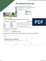 Cours VBA _ Utilisations Des Fonctions Excel