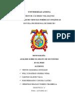 Monografia Análisis Sobre El Delito de Secuestro en El Peru