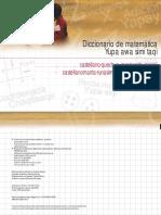 Diccioanrio de Matematica en Quechua