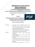 9.1.1.1. SK Kewajiban Tenaga Klinis Dalam Peningkatan Mutu Klinis Keselamatan Pasien