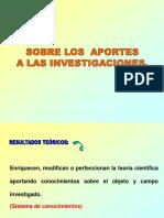 Aportes Teoricos y Practicos de las investigaciones
