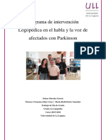 Programa de Intervencion Logopedica en El Habla y La Voz de Afectados Con Parkinson