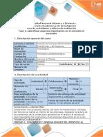 Guía de actividades y rúbrica de evaluación - Fase 2. Identificar aspectos importantes en el contexto del escenario. (1).pdf