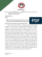 BulSU Proposal