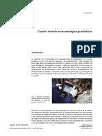 Cuanto Invertir en Tecnologias Predictivas PDF 72 Mb