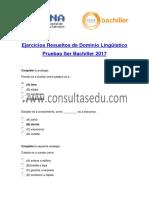 Ejercicios Resueltos de Dominio Lingüístico Ser Bachiller (1)