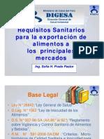 Requisitos Sanitarios para exportacion de alimentos.pdf
