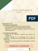 Teoría de La Equilibración - Piaget