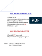 Cara Pengoperasian Ballast Pump