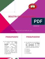 Boletin de Presupeusto I