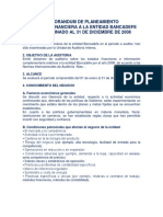 Memorandum de Planeacion Auditoria