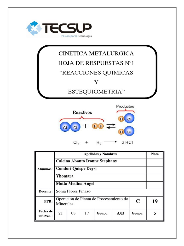 Hermosa La Hoja De Trabajo EstequiometrÃa 2 Respuestas Ornamento ...