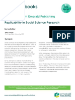 Replicability in Social Science Research
