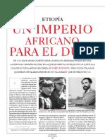 Etiopía, Un Imperio Para Benito Mussolini