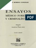 Ensayos Medico Forenses y Criminalísticos