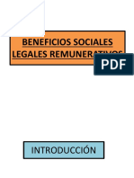 BENEFICIOS SOCIALES LEGALES REMUNERATIVOS ppt.pptx