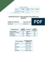 46 Formato de Identificación y Evaluación Cualitativa de Riesgos