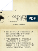Open System Theory in Nursing