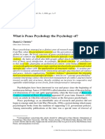 What is Peace Psychology the Psychology of - Daniel J. Christie