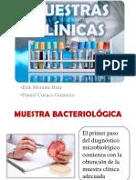 MUESTRAS CLÍNICAS, BACTERIOLOGÍA