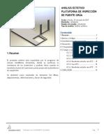 Analisis Estatico de Plataforma de 1.3mx3m