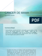 CANCER de MAMA Diapositivas