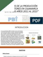 Análisis de La Producción Por Sectores en Cajamarca