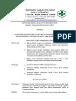 9.1.3.1 Kejelasan Alokasi Dan Kepastian Ketersediaan Sumber Daya Dalam Rangka Peningkatan Mutu Dan Keselamatan Pasien