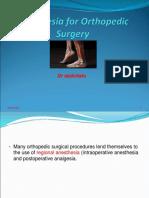 Anesthesia Orthopaedic Surgery