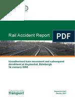 Rail Accident Report Haymarket