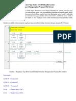 Rangkaian Tiga Motor Listrik Hidup Berurutan Dengan Menggunakan Program PLC Omron
