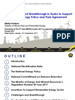 Policy, Target, and Breakthrough in Hydro to Support National Energy Policy and Paris Agreement