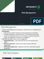 Chapter 1 - Risk Management