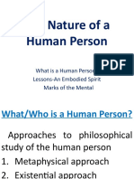 4nature of a Human Person
