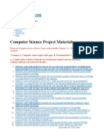 Computer Science Project Topics and Materials in Nigeria