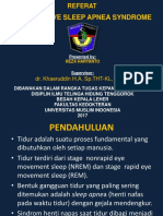 Referat Obstructive Sleep Apnea Syndrome Ppt