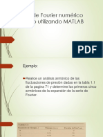 Análisis de Fourier Numérico Realizado Utilizando MATLAB