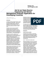Requirements for an Open-Source Pharmacy Dispensing and Stores Management Software Application for Developing Countries